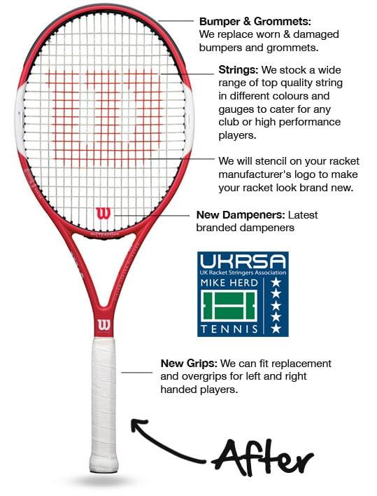 Tennis Racket Restringing Mike Herd Tennis
